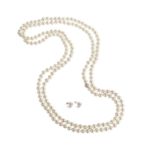 rolicia-65inches-165cm-freshwater-cultured-pearl-necklace-earrings-gift-box-white
