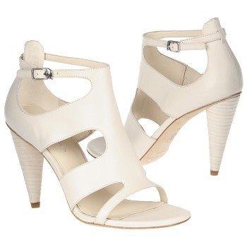 Amazon.com: Via Spiga Izzy Ivory Leather Buckle Strappy Cone Heels ...