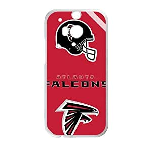 HTC One M8 phone case White Atlanta Falcons Team Logo TTSD1184292