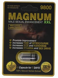 Magnum 9800-20 Pills Male Enhancement Pill - Fast US Shipping (Male Pill Performance Enhancement)