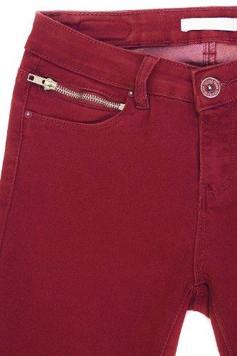 Slim tamaño pantalón alta muy suave Rojo