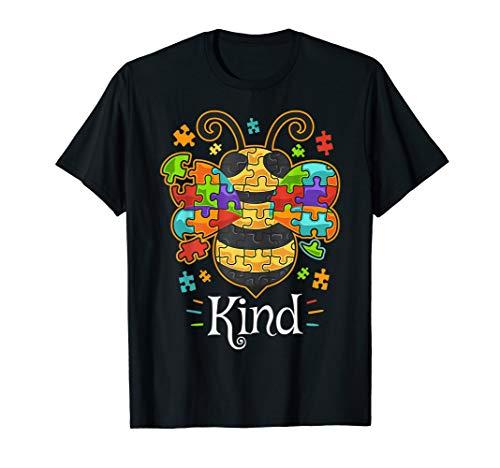 Autism Awareness Shirts Bumble Bee Be Kind Autistic -
