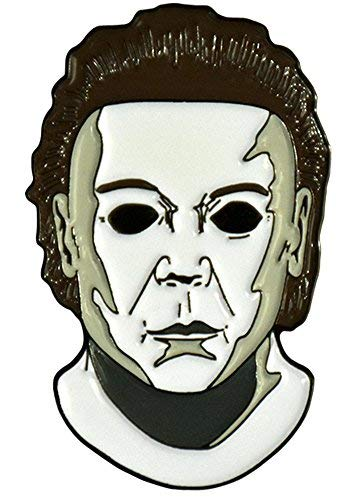 Halloween 8 Resurrection Michael Myers Mask Enamel Pin]()