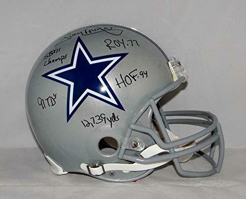 (Tony Dorsett Autographed Signed Dallas Cowboys F/S Proline Helmet 5-Stat Blk- Memorabilia JSA Authentic)