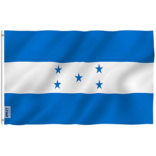 Anley [Fly Breeze 3x5 Foot Honduras Flag - Vivid Color and UV Fade Resistant - Canvas Header and Double Stitched - Honduran National Flags Polyester with Brass Grommets 3 X 5 Ft