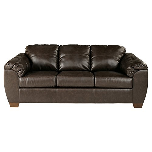 Sierra Sleep by Ashley Ashley Furniture Signature Design - Franden DuraBlend Contemporary Faux Leather Sofa - Cafe Brown ()
