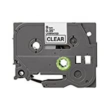 Toner Spot Remanufactured P Touch Label Tape Replacement for Brother TZe-121 (TZ121) - 3/8 x 26' Black on Clear by Toner Spot