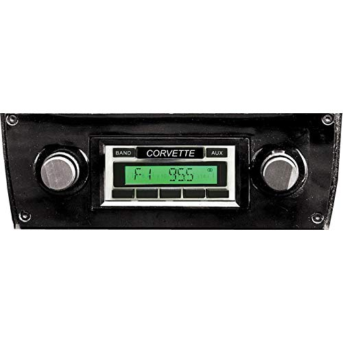 Eckler's Premier Quality Products 25-178621 Custom Autosound USA-230 AM/FM Stereo, Concours Series, Chrome Face| CAM-CVLV-230 BLK CON Corvette -