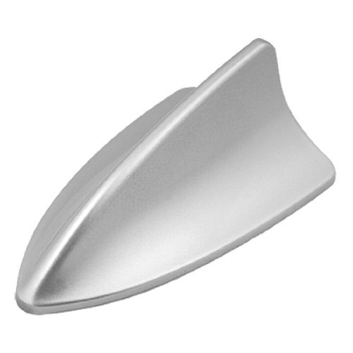 uxcell® Car Roof Mounted Silver Tone Plastic Shark Fin Antenna Ornament