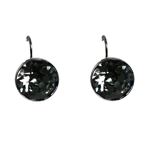 Bella Pierced Swarovski Earrings (Swarovski Bella Pierced Earrrings - Black Diamond Crystal)