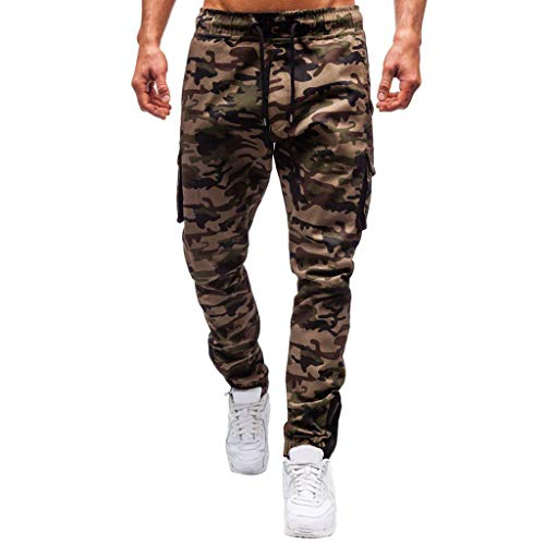 Homeparty Camouflage Pants Mens Pocket Overalls Casual Pocket Sport Work Casual - Womens Baby Dress Phat