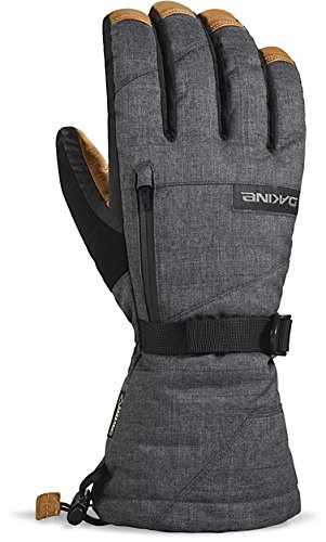 Paragon Mens Watch - Dakine Men's Titan Leather Gloves, Carbon, L