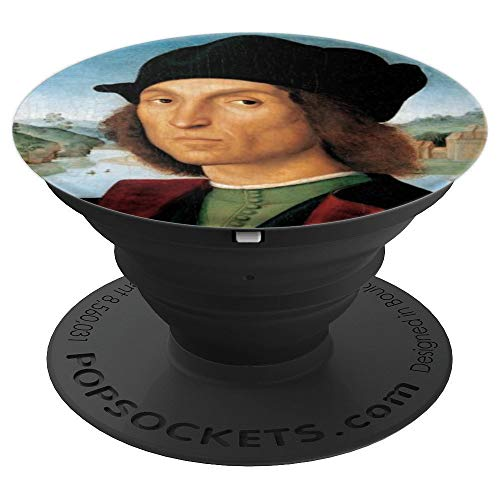 Portrait of a Man Raphael Artist High Renaissance Design - PopSockets Grip and Stand for Phones and Tablets ()