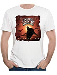 Mans Black Country Communion Classic Short Sleeve Top T Shirt Young Cotton T-Shirt