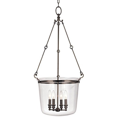 Hudson Valley Lighting Quinton 4-Light Pendant - Old Bronze Finish with Clear Glass Shade by Hudson Valley Lighting