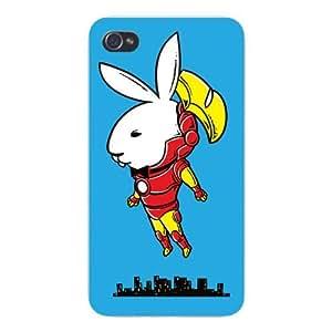 "Apple iPhone Custom Case 5c White Plastic Snap On - ""Bunny Inside"