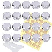 Queta Travel Cream Tin Aluminium Tin for Cream Lotion Masks Cosmetics Nail Art 20 ml