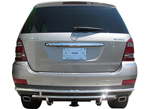 VANGUARD 2007-2012 Mercedes Benz GL-Class X164 Rear Bumper Guard Double Layer S/S