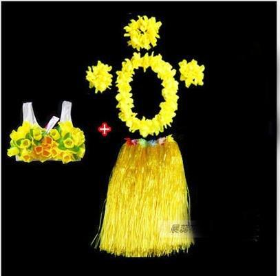 WDBS 60CM adultos ordinarios Vestido de hula de Hawaii Vestido de fiesta de Año Nuevo un