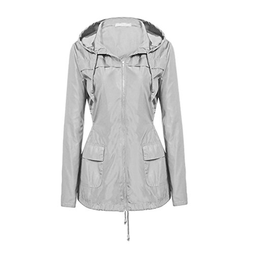 Coats Coat Windbreaker Jacket Women Yying Rain Waterproof Jackets Warm Jacket Windproof Grey Hooded wTRqFv