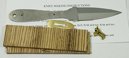 Payne Bros Custom Knives 7.75 INCH BOOT knife kit/DIY KNIFE KIT/PAYNE BROS (ZEBRA) (Boots Custom Hunting)