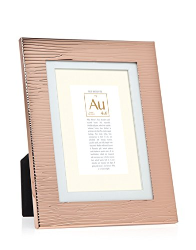 Rose Gold Wood Grain Photo Frame