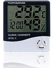 HTC-1 Digital LCD مقياس الحرارة والرطوبة المنزلية
