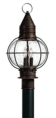 (Hinkley 2207SZ Rustic Three Light Post Top from Cape Cod Collection in Bronze/Darkfinish,)