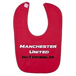 Manchester United No 1 Dribbler Baby Bib