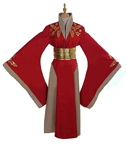 COSKING Cersei Costume Women Red, Deluxe Halloween Queen Cosplay Dress (X-Large) ()