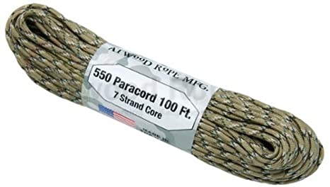 Kerman A.C LE Atwood Rope 550-Pound Type III 7 Strand Core Paracord 1//8-Inch x 100-Feet Flag Atsko Sno-Seal AR550100-P18