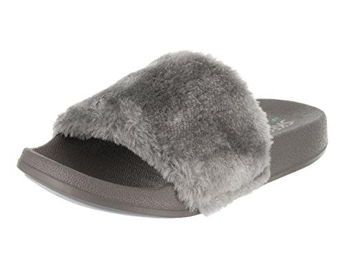 Perfect Summer Sandal Women Gray Pop Skechers Ups v64UWA6zw