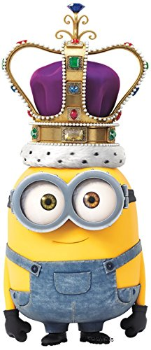 7 Inch King Bob Minion Crown Minions Despicable Me Removable Wall Decal  Sticker Art Home Decor