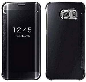 Margoun for samsung Galaxy S6 Edge plus (5.5 inch) Mirror Smart Clear View, black