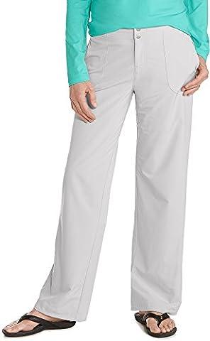 Coolibar UPF 50+ Women's Adventure Pants - Sun Protective (6- Stone Grey) (Womens Adventure Pants)