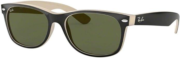 New Ray Bay Sunglasses Brown  NEW WAYFARER  RB 2132 902L G-15 Glass Lenses 55mm