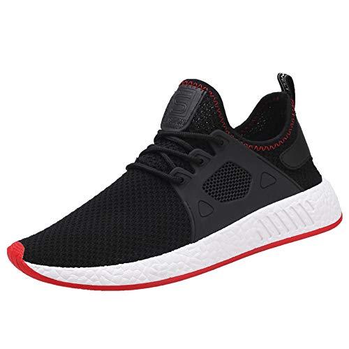 ◕‿◕Watere◕‿◕ Men's Sneakers, Mens Running Shoes Sneakers Lightweight Tennis Sport Casual Walking Athletic for Men Outdoor Black