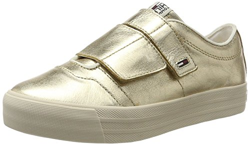 Jeans Sneakers Femme 6z1 N1385ice Tommy antique Basses Gold Or tRdqxxBP