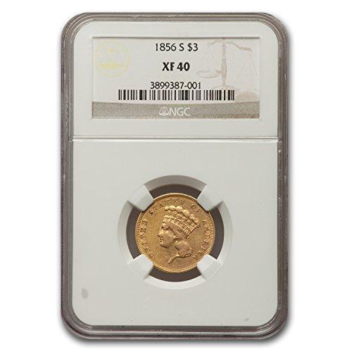 1856 S $3 Gold Princess XF-40 NGC $3 XF-40 NGC