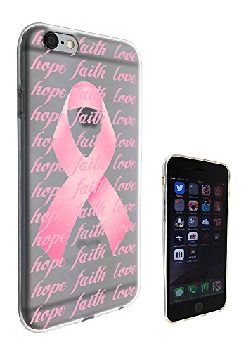 c0989 - Beautiful Breast Cancer Pink Bow Hope Faith Love Design iphone 6 Plus / 6S plus 5.5'' Fashion Trend CASE Gel Rubber Silicone All Edges Protection Case Cover
