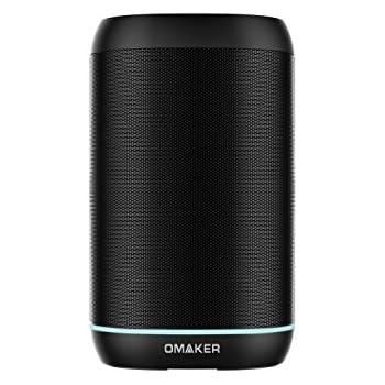 Omaker WoW Handsfree Smart Speakers Wireless Multiroom Wifi Portable Bluetooth Speakers with Amazon Alexa, Black