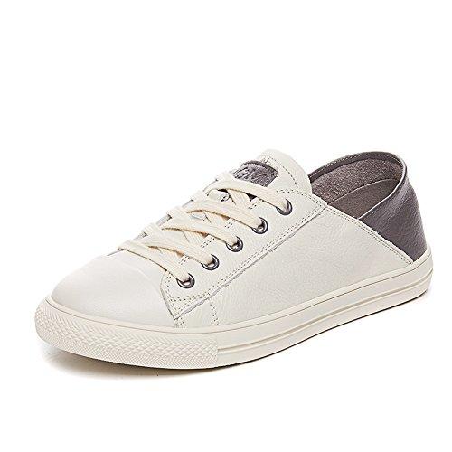 NGRDX&G Chaussures Blanches Chaussures De Sport Femme Ronde Chaussures De Sport