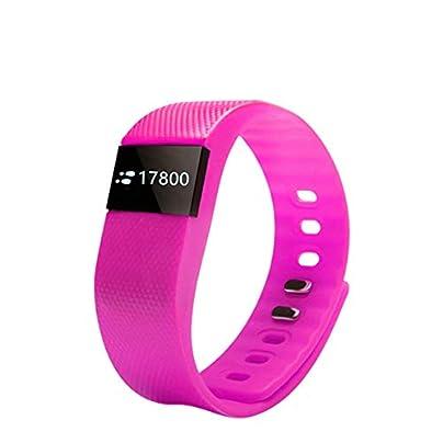 QUARKJK Smart Wristbands Sleep Monitor Fitness Band Smart Bracelet Heart Rate Monitor Smart Fitness Bracelet Calorie Counter Wristband Pink Estimated Price -