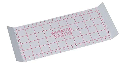 Index Card, for 40 Vials Store Case, PK35