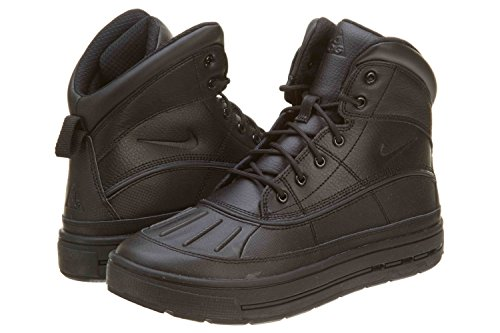 Nike Boy's Woodside 2 High Snow Boots (Black/Black) (Nike Boots Men Woodside)