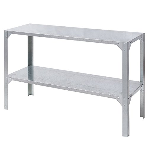 Potting Table Storage Shelves Galvanized Steel Workbench Greenhouse Prepare