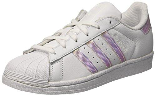 Adidas Donna Superstar W, Bianco / Argento, 7 Us