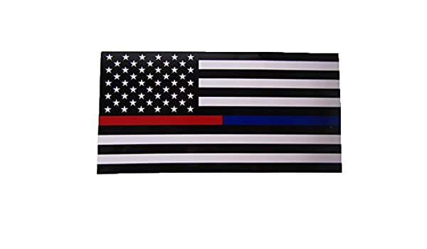 Wholesale Lot of 6 First Responder Thin Red Blue Line Decal Bumper Sticker
