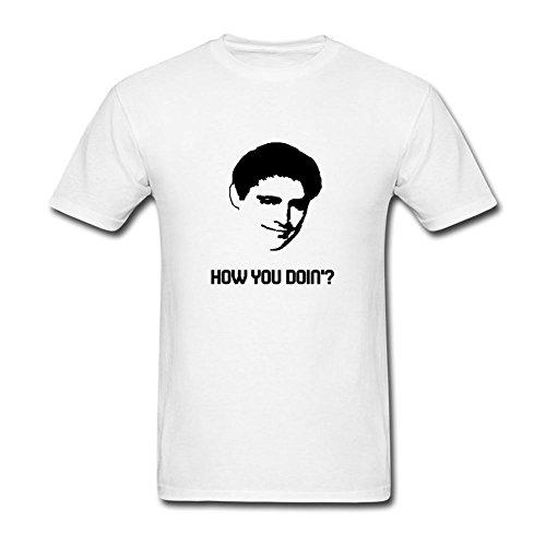 Flysky Men's How You Doing Custom T-shirt White X-Large