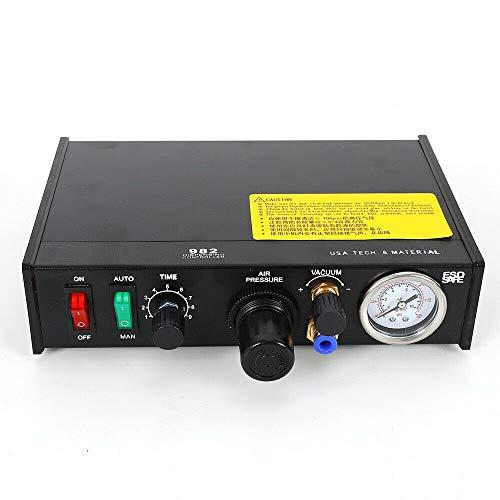 - 982 Semi-Auto Glue Dispenser Solder Paste Semi-Auto Solder Paste Controller Glue Dropper Adhesive Dispenser 0.1-5.5bar Dropper Liquid Dispenser Controller